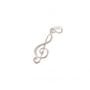 Zebra Music Wisiorek na łańcuszek klucz wiolinowy, srebro,  (...)
