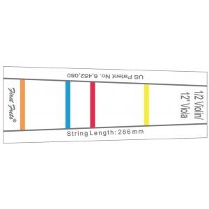 Gewa (414876) naklejka - oznakowanie podstrunnicy dla początkujących - skrzypce 1/4