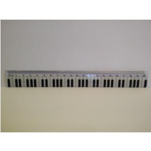 Zebra Music Linijka 20cm z klawiatura fortepianu