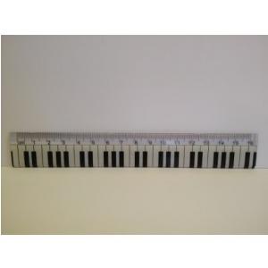 Zebra Music Linijka 16cm z klawiatura fortepianu