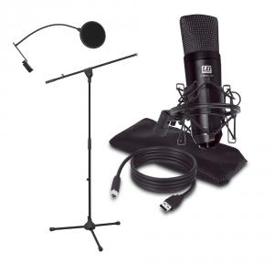 LD Systems PODCAST 2 zestaw mikrofon pojemnościowy USB +  (...)
