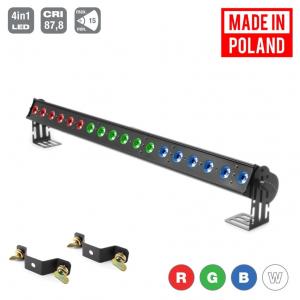 Flash Pro LED Washer 18x10W RGBW 4w1 3 sekcje 15st. MK2 -  (...)