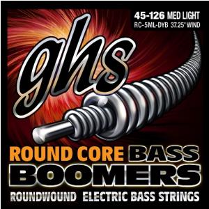 GHS Round Core Bass Boomers struny do gitary basowej, 5-str. Medium Light, .045-.126