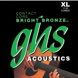 GHS Contact Core Bright Bronze struny do gitary akustycznej, Extra Light, .011-.050