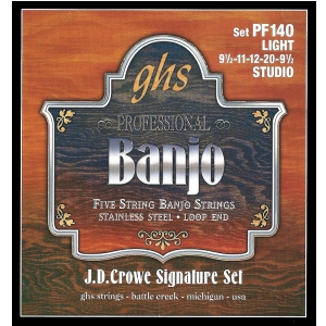 GHS J.D. Crowe Signature struny do banjo, 5-str. Stainless  (...)