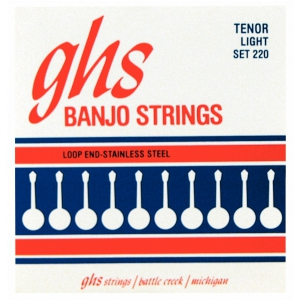 GHS Tenor struny do banjo tenorowego, 4-str. Loop End,  (...)