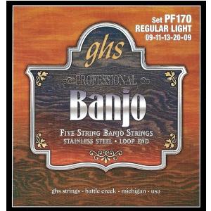 GHS Professional struny do banjo, 5-str. Loop End,  (...)