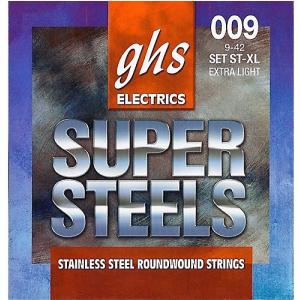 GHS SUPER STEELS struny do gitary elektrycznej, Extra Light, .009-.042