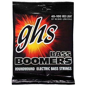 GHS Bass Boomers struny do gitary basowej 4-str. Medium Light, .045-.100