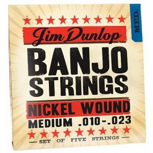 Dunlop Banjo Nickel Strings Medium 5 strings struny do  (...)