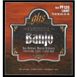 GHS Professional struny do banjo, 6-str. Loop End,  (...)