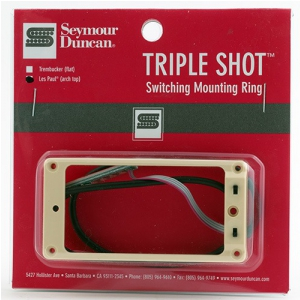 Seymour Duncan STS 2S CRE Triple Shot, Switching Mounting Ring Set, Arched - Creme