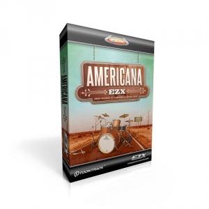 Toontrack EZX Americana biblioteka brzmień [EZdrummer, Superior Drummer] stworzona przez Marka Hallmana [Carole King, Dan Fogelberg], country, rock lat 90, zestaw zarejestrowany w Congress House Studio