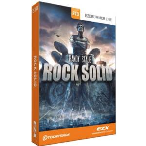 Toontrack EZX Rock Solid biblioteka brzmień [EZdrummer, Superior Drummer] stworzona przez Randyego Stauba [Metallica, Mötley Crüe, Nickelback], bębny nagrane w Warehouse Studio, w zestawie pliki MIDI z podziałami