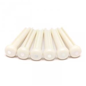 Graphtech LP-1142-60 - Traditional Style Bridge Pins, White, Mother of Pearl Inlay, pin (kołek) do gitary akustycznej, biały