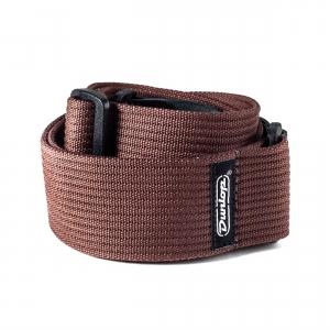 Dunlop Ribbed Cotton Strap - Chocolate, pasek gitarowy