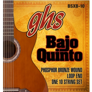 GHS Bajo Quinto, struny do gitary akustycznej,  Loop End 10 String, .024-.078