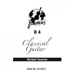 Framus Classic - struna pojedyncza do gitary klasycznej, D 4, .030, wound, Normal Tension