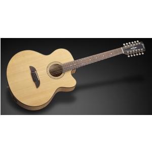 Framus FJ 14 SMV - Vintage Transparent Satin Natural Tinted + EQ (12-string) gitara elektroakustyczna