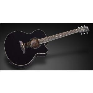 Framus FJ 14 S BK CE - Solid Black High Polish + EQ gitara elektroakustyczna