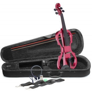 Stagg EVN X 4/4 MRD skrzypce elektryczne, komplet, kolor  (...)