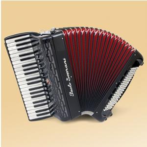 Paolo Soprani Professionale 41/120  41/4/11+M 120/5/5 Musette akordeon (czarny)