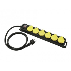 Eurolite Distributor 6-fold IP44 bk 5m - przedłużacz z  (...)
