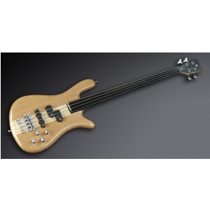 RockBass Streamer NT I 4-String, Natural Transparent High Polish, Fretless gitara basowa