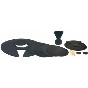 RockBag Drum Accessory - Silent Impact Starter II Practice Pad Set