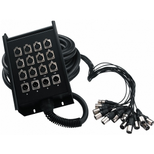 RockCable kabel wieloparowy  + Stage Box - 12 x Send / 4 x  (...)