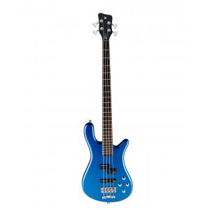 RockBass Streamer LX 4-String, Blue Metallic High Polish, Active, Fretted gitara basowa