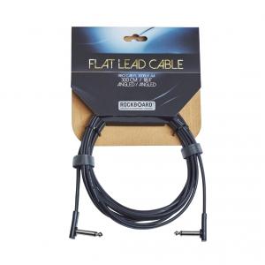 RockBoard Flat kabel instrumentalny , Black, 300 cm, angled/angled
