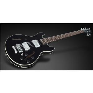 RockBass Star Bass Maple 5-str. Black Solid High Polish, Fretted - Long Scale gitara basowa