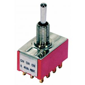 Mec Mini Toggle switch chrome ON - ON - ON 4PDT przełącznik gitarowy
