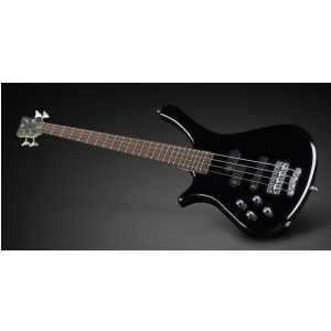 RockBass Fortress 4-String, Black Solid High Polish, Active, Fretted, Lefthand gitara basowa