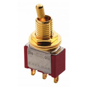 Mec Mini Toggle switch gold ON - ON SPDT short toggle przełącznik gitarowy