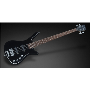 RockBass Corvette Basic 4-String, Solid Black High Polish, Active, Fretted gitara basowa