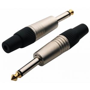 RockCable TS Plug - 6.3 mm / 1/4, Plastic Cap