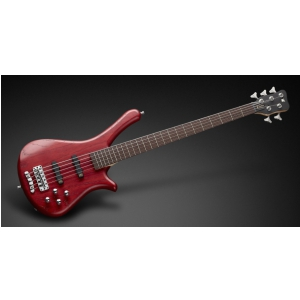Rockbass Fortress Burgundy Red Transparent Satin gitara basowa