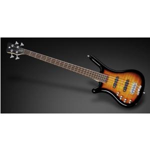 RockBass Corvette Classic 4-String, Almond Sunburst Transparent High Polish, Active, Fretted, Lefthand gitara basowa
