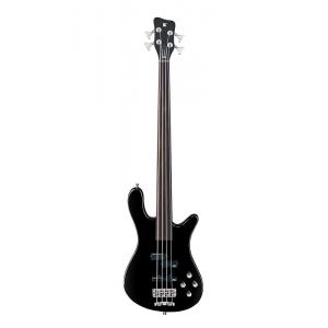 RockBass Streamer LX 4-String, Solid Black High Polish, Fretless gitara basowa