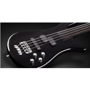 RockBass Streamer NT I 4-String, Solid Black High Polish, Fretless gitara basowa