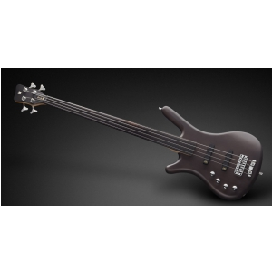 RockBass Corvette Basic 4-String, Nirvana Black Transparent Satin, Fretless - Lefthand gitara basowa
