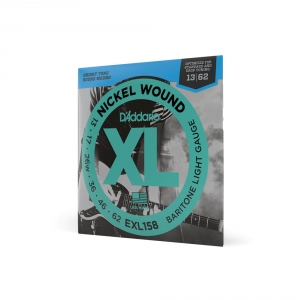 DAddario EXL 158 struny do gitary elektrycznej barytonowej 13-62