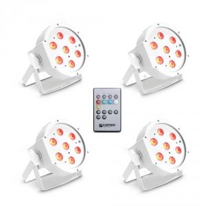 Cameo FLAT PAR CAN TRI 3W IR WH SET - Zestaw 4 lamp PAR 7  (...)