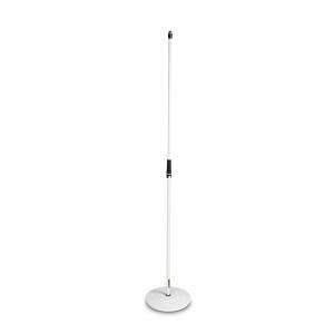 Gravity MS 23 W statyw mikrofonowy, prosty, z okrągłą podstawą, biały