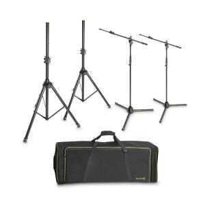 Gravity SSMS SET 1 zestaw 2 statywów kolumnowych i 2 statywów mikrofonowych w torbie transportowej