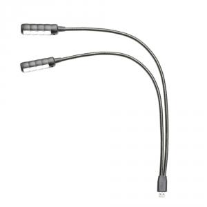 Adam Hall Stands SLED 2 ULTRA USB - LED Dual Gooseneck  (...)