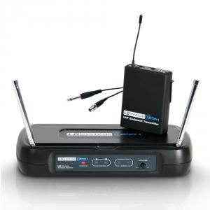 LD Systems ECO 2 BPG 4 bezprzewodowy system mikrofonowy z nadajnikiem bodypack i kablem gitarowym
