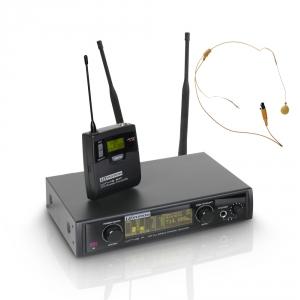 LD Systems WIN 42 BPHH mikrofon bezprzewodowy nagłowny, kolor beżowy